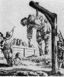 Подвешивание за ребро - традиционная казнь разбойников ( татей